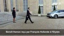 Benoît Hamon reçu à l'Elysée par François Hollande
