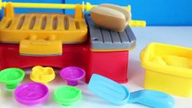 Play Doh Cookout Creations New Playdough Grill Makes Play-Doh Hotdogs Hamburgers Toy Videos