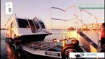 Découvrez cette caravane flottante de rêve : en même temps, une barque et un mini-appartement !