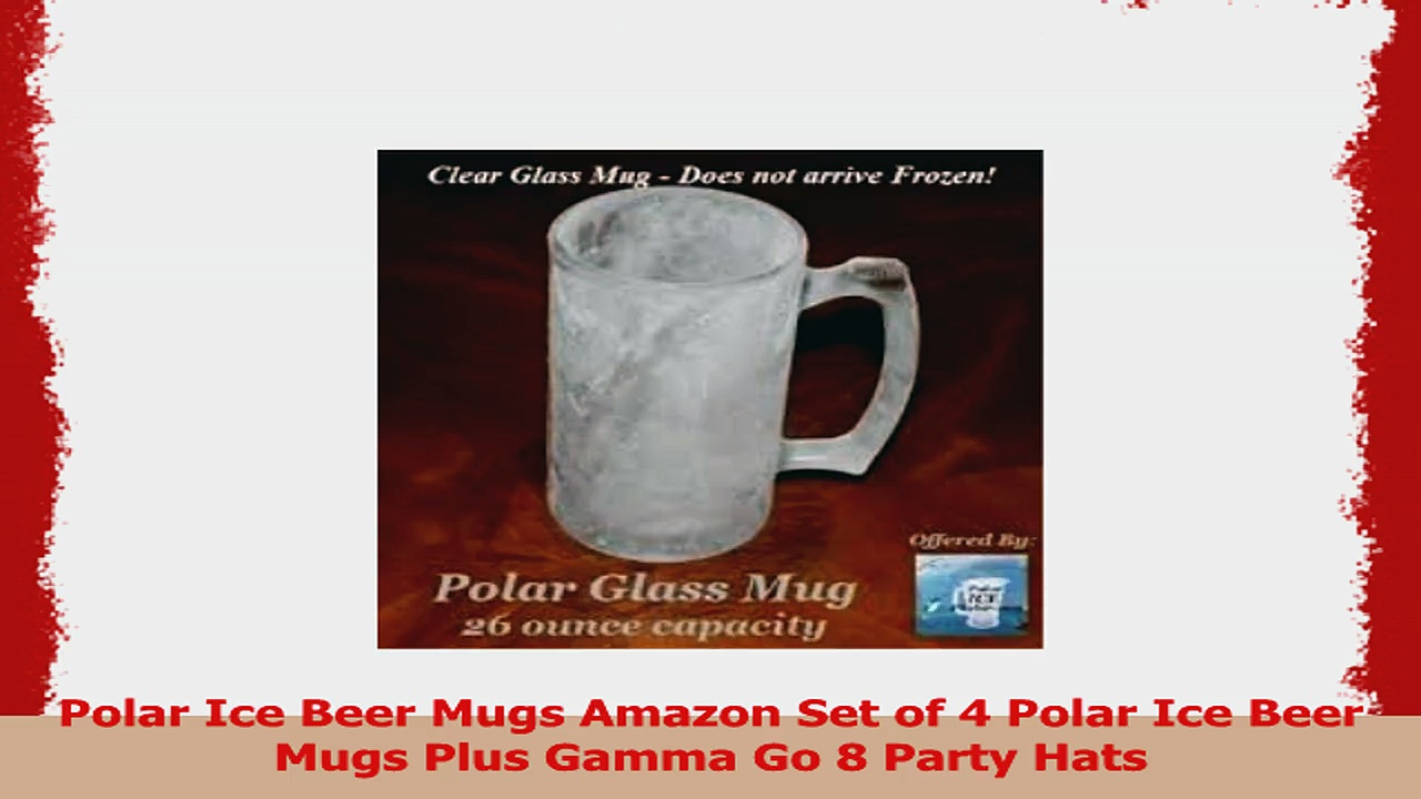 Polar Ice Beer Mugs Amazon Set of 4 Polar Ice Beer Mugs Plus Gamma Go 8 Party Hats 4a569b50