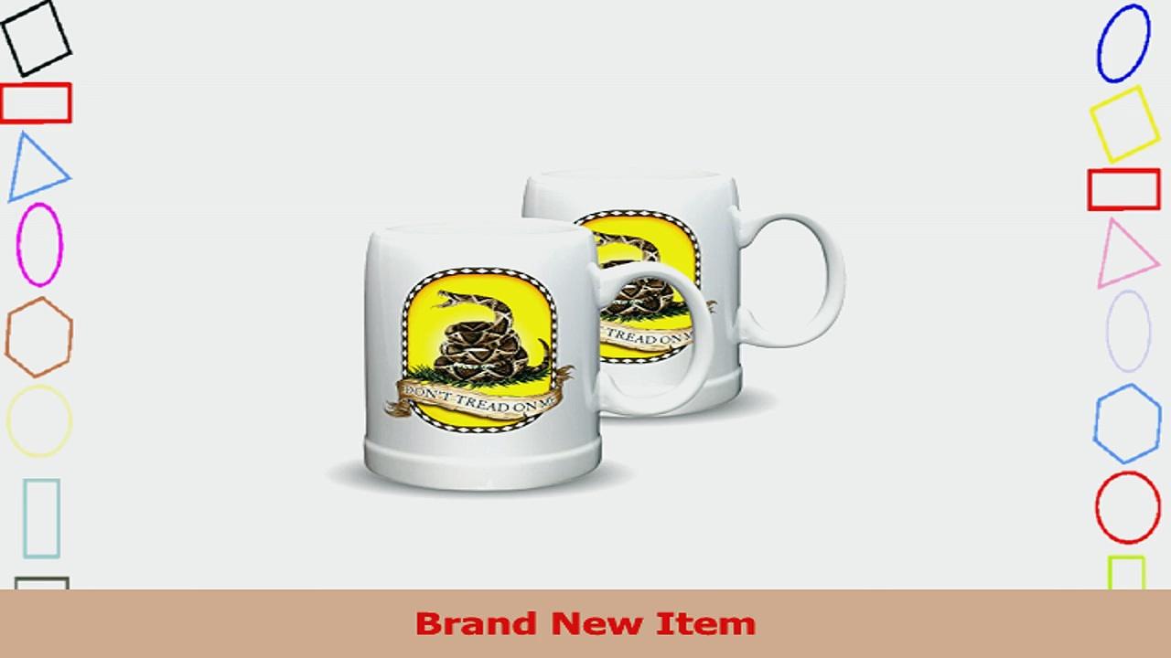 SET OF 2 Dont Tread On Me Rattlesnake Black 20 Ounce Stoneware Stein Mugs e8431f91