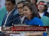 VP Robredo, humarap sa pagdinig ng Senado sa budget ng OVP at HUDCC