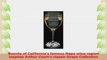 Arthur Court Grape Wreath Wine Glass Single Glass 5ddc79bb