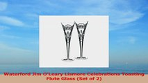 Waterford Jim OLeary Lismore Celebrations Toasting Flute Glass Set of 2 973e909a