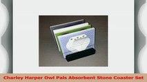 Charley Harper Owl Pals Absorbent Stone Coaster Set 1ace3d88