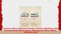 Custom Wine Glasses Couples Mouse Wedding Gift Personalized Wine Glass Monogram Wine Glass 2b161380