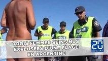 Trois femmes seins nus expulsées d'une plage en Argentine