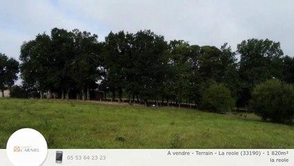 A vendre - Terrain - La reole (33190) - 1 820m²