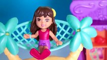 Dora the Explorer, Dora Into the City Has a Playa Cabana, a Beach Cabana and Plays at the Beach