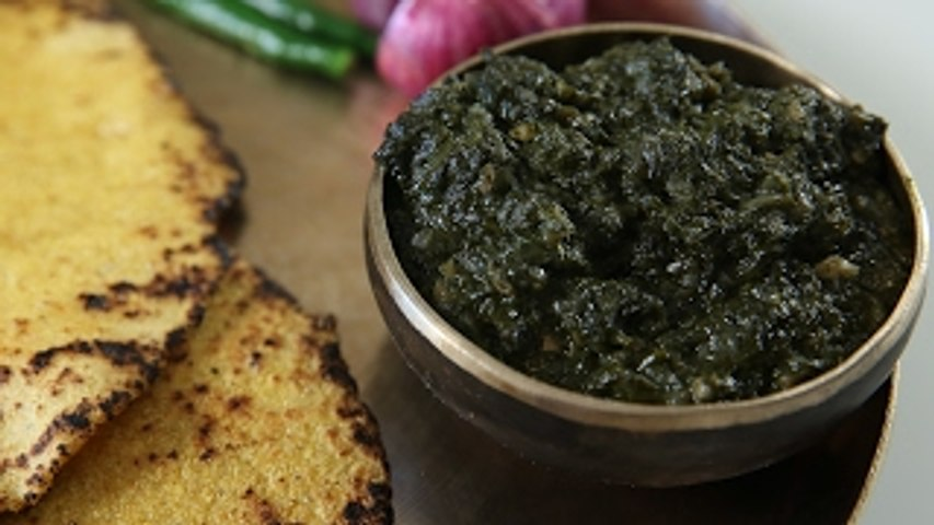 Sarson Ka Saag Aur Makki Ki Roti - Authentic Punjabi Recipe - Masala Trails With Smita Deo