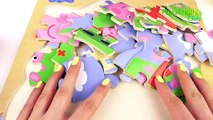 Peppa Pig Wooden Puzzle with George and Peppa Pigs