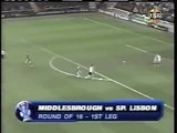 10.03.2005 - 2004-2005 UEFA Cup Round of 16 1st Leg Middlesbrough FC 2-3 Sporting Lisbon