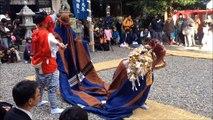 宇賀多神社獅子舞奉納2014年1月1日撮影 三重県志摩市阿児町鵜方の神社