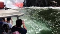 Un torrent de lave du Kilauea se déverse en continu dans l'océan Pacifique