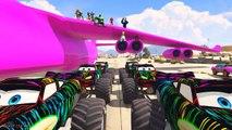 Monster Lightining McQueen Transportation on Biggest Airplane with Spiderman Nursery Rhymes