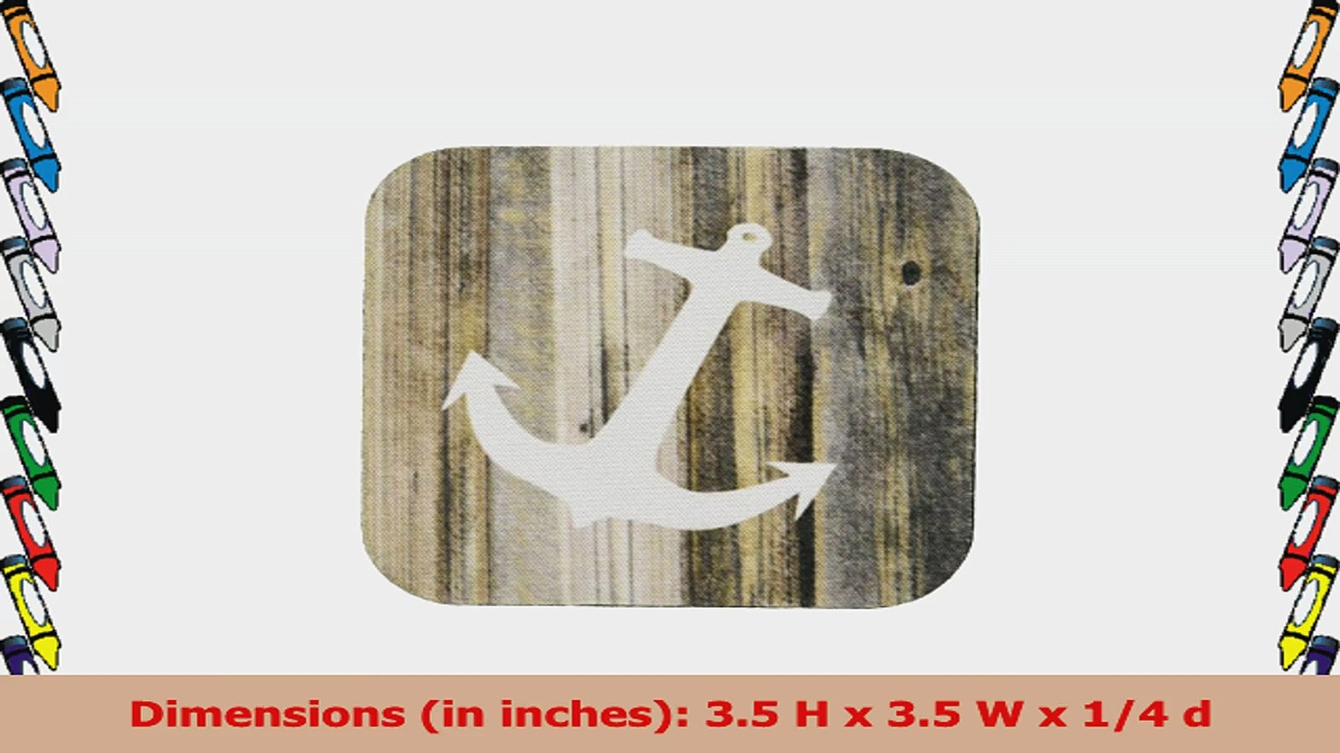 3dRose cst1739022 White Anchor on Planks Soft Coasters Set of 8 8dae1765