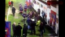 Le mauvais geste de Tony chapron envers les supporters ajacciens lors du match GFCA - Monaco.