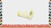 HQRP Set of 10 Filters for Black  Decker CHV1400 CHV1500 Cyclonic Action DustBusters  420df604