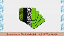 Set of 8 3dRose CST/_41559/_2 Hawaiian Hibiscus N Leaves Print Soft Coaster