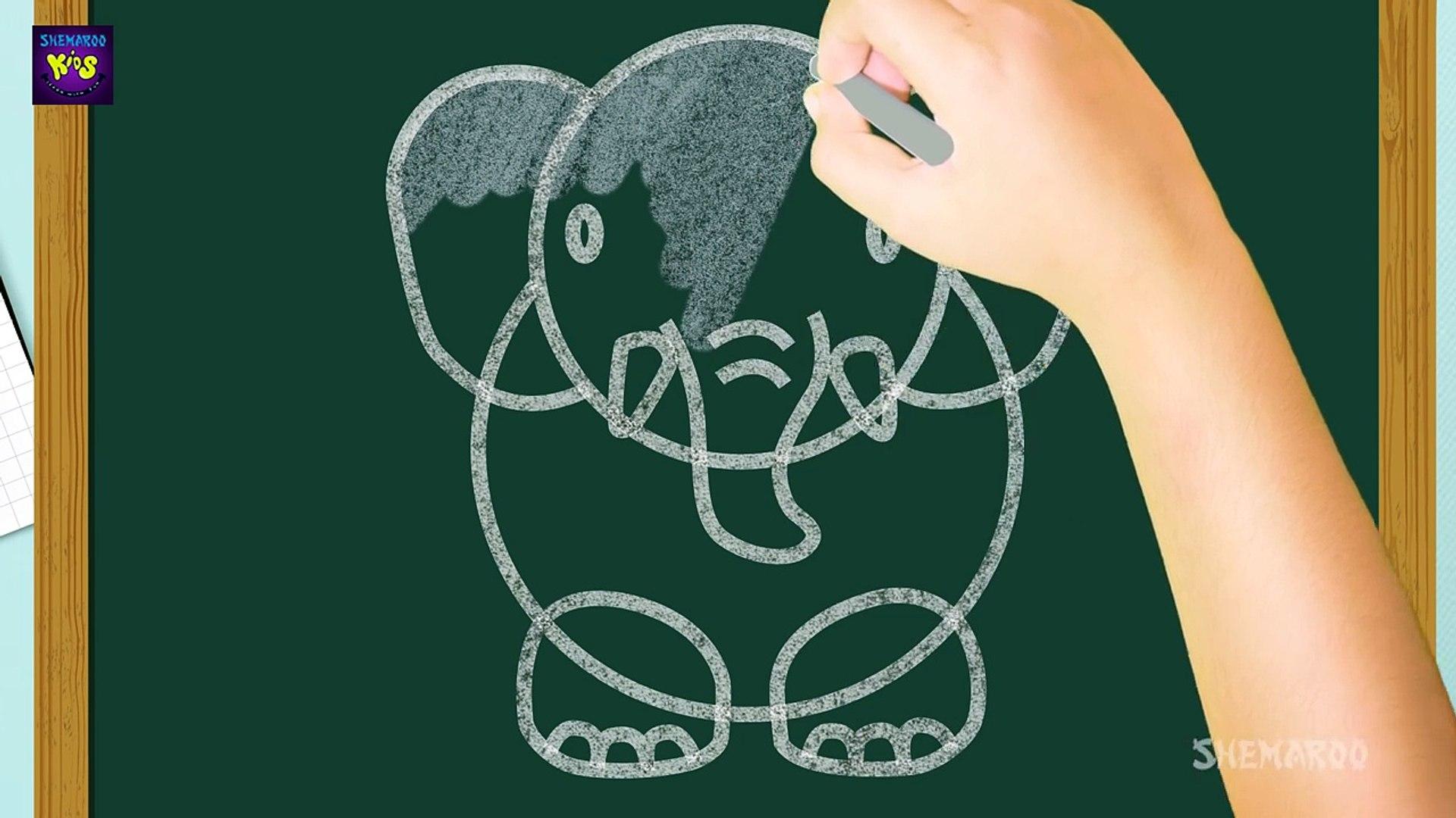 Easy Elephant Drawing for Kids _ Kids Learning Video _ Shemaroo Kids-8ZyqGTQc7Xk