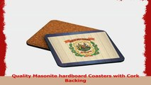 Rikki Knight West Virginia Flag on Distressed Wood Design Square Beer Coasters dec3d76a