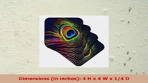 Lee Hiller Designs General Themes  Peacock Feather Print  set of 8 Ceramic Tile Coasters 27bb2a5a