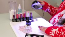 Christmas Nail Art using Chrome, Sparkles and Stickers-aBZiSRMadiA