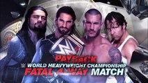 Dean Ambrose vs Seth Rollins vs Roman Reigns vs Randy Orton - PayBack 2015 - Official Promo