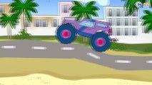 Arabalar çizgi filmleri türkçe. Ambulans, Monster Truck. Eğitici çizgi film. Çocuklar için arabalar