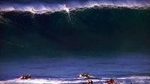 Surf sur des vagues géantes !!