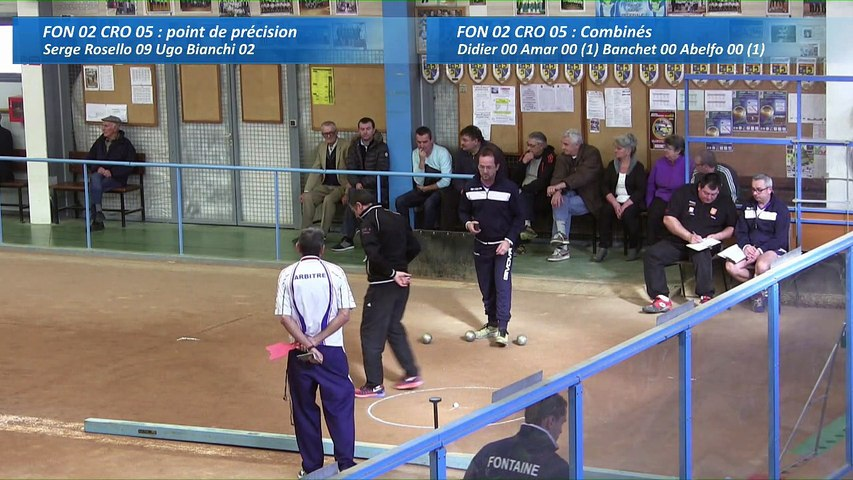 Second tour, point de précision, Club Elite Masculin, J10, Fontaine contre CRO Lyon, Sport Boules, saison 2016-2017