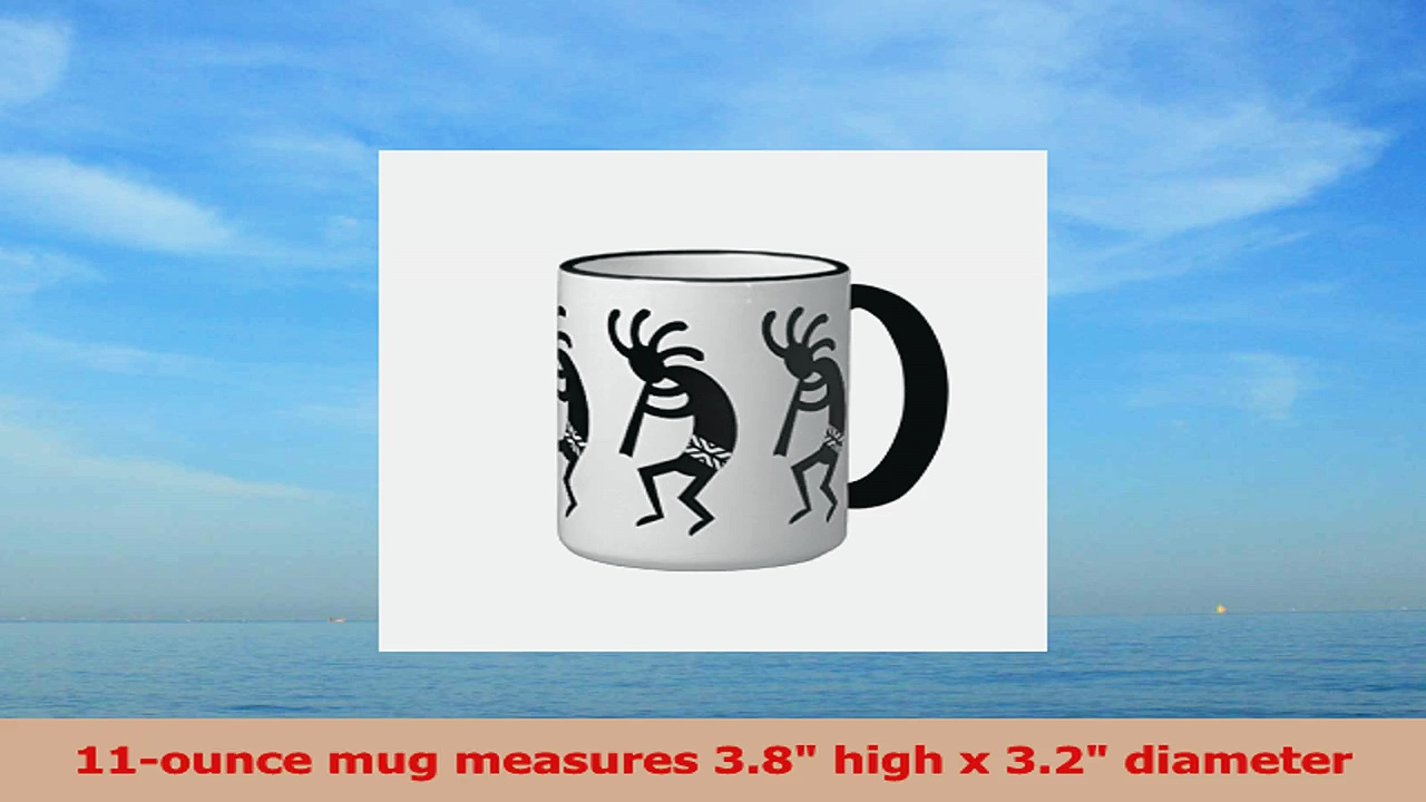 Pioenfly Black And White Southwest Kokopelli Ringer Coffee Mug d1dde35e
