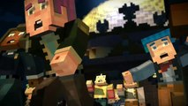 Run as fast as you can! Ghast in the nether! Minecraft Story Mode: Episode 1 part 3