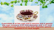 Porcelain Tea Cup and Saucer Coffee Cup Set White color with Saucer and Spoon 8 oz Set of 79256c58