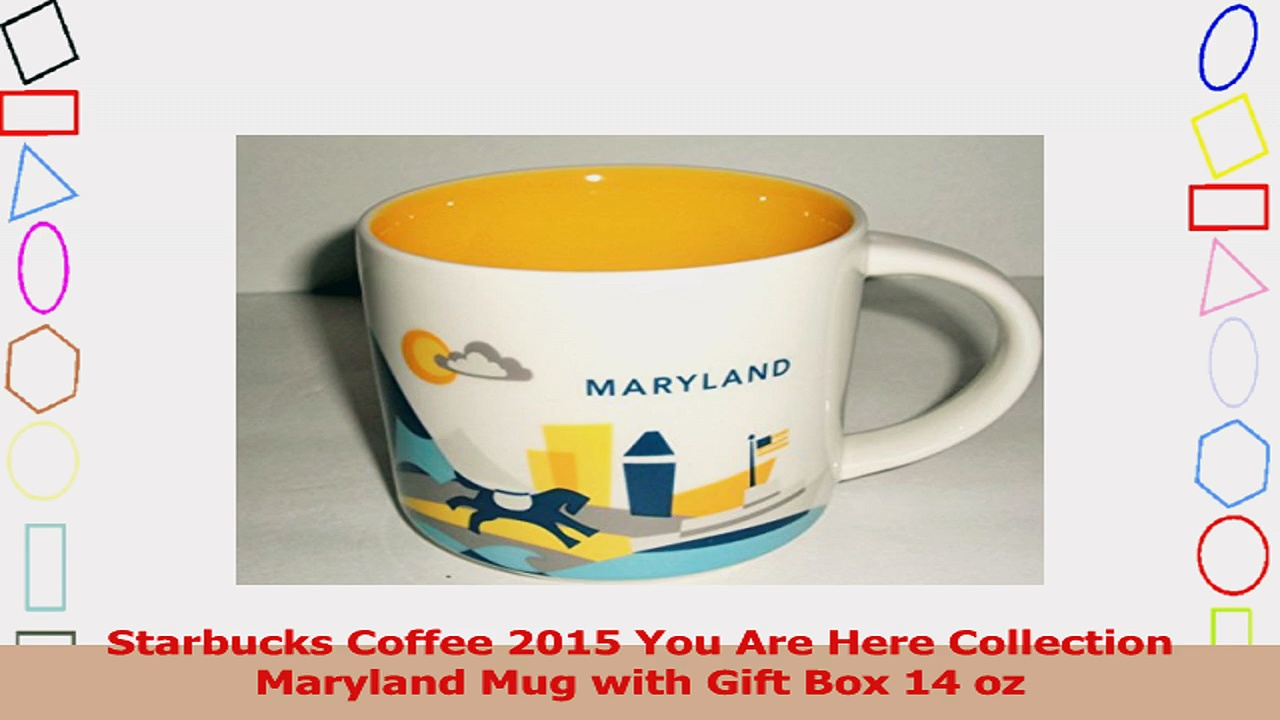 Starbucks Coffee 2015 You Are Here Collection Maryland Mug with Gift Box 14 oz a77a44b8