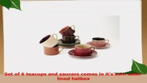 Yedi Houseware Classic Coffee and Tea Aubergine Teacups and Saucers PurpleBrown Set of 6 12145aaa