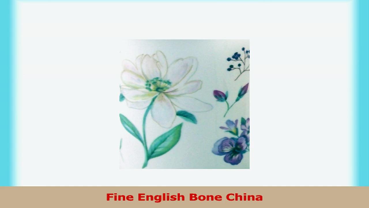Pair Fine Bone China Mugs  English Meadow By Royal Castle 1939e8bc