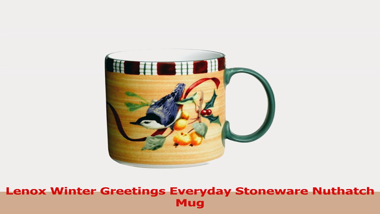 Lenox Winter Greetings Everyday Stoneware Nuthatch Mug 3d156b4b