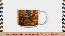 TreeFree Greetings Extra Large 20Ounce Ceramic Coffee Mug White Tailed Deer Themed 2da4d641