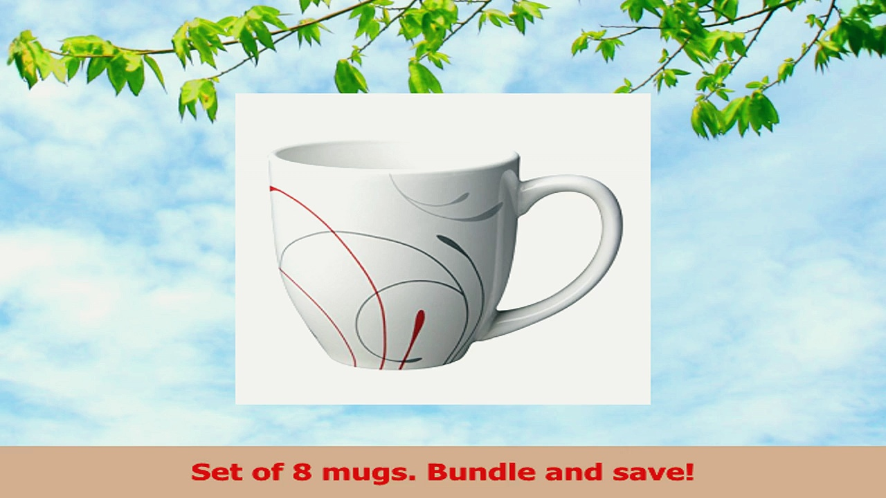 Corelle Impressions Splendor 13 Ounce Stoneware Mug Set of 8 8ad42c42