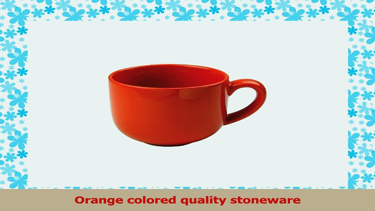 OmniWare Teaz Cafe Orange Stoneware 24 Ounce Jumbo Coffee Mug Set of 4 ba744c16