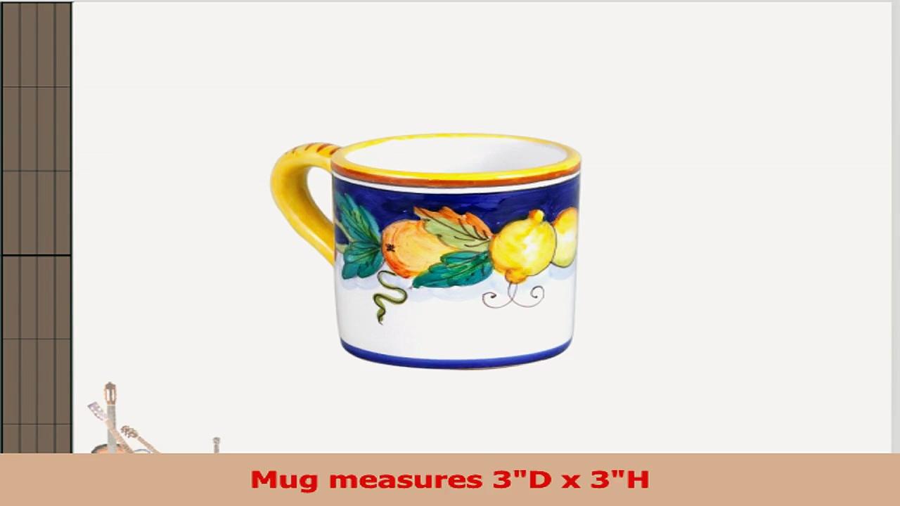 Daphne Hand Painted Italian Ceramic Mug From Deruta d331b695