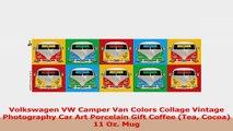 Volkswagen VW Camper Van Colors Collage Vintage Photography Car Art Porcelain Gift Coffee 773895ec