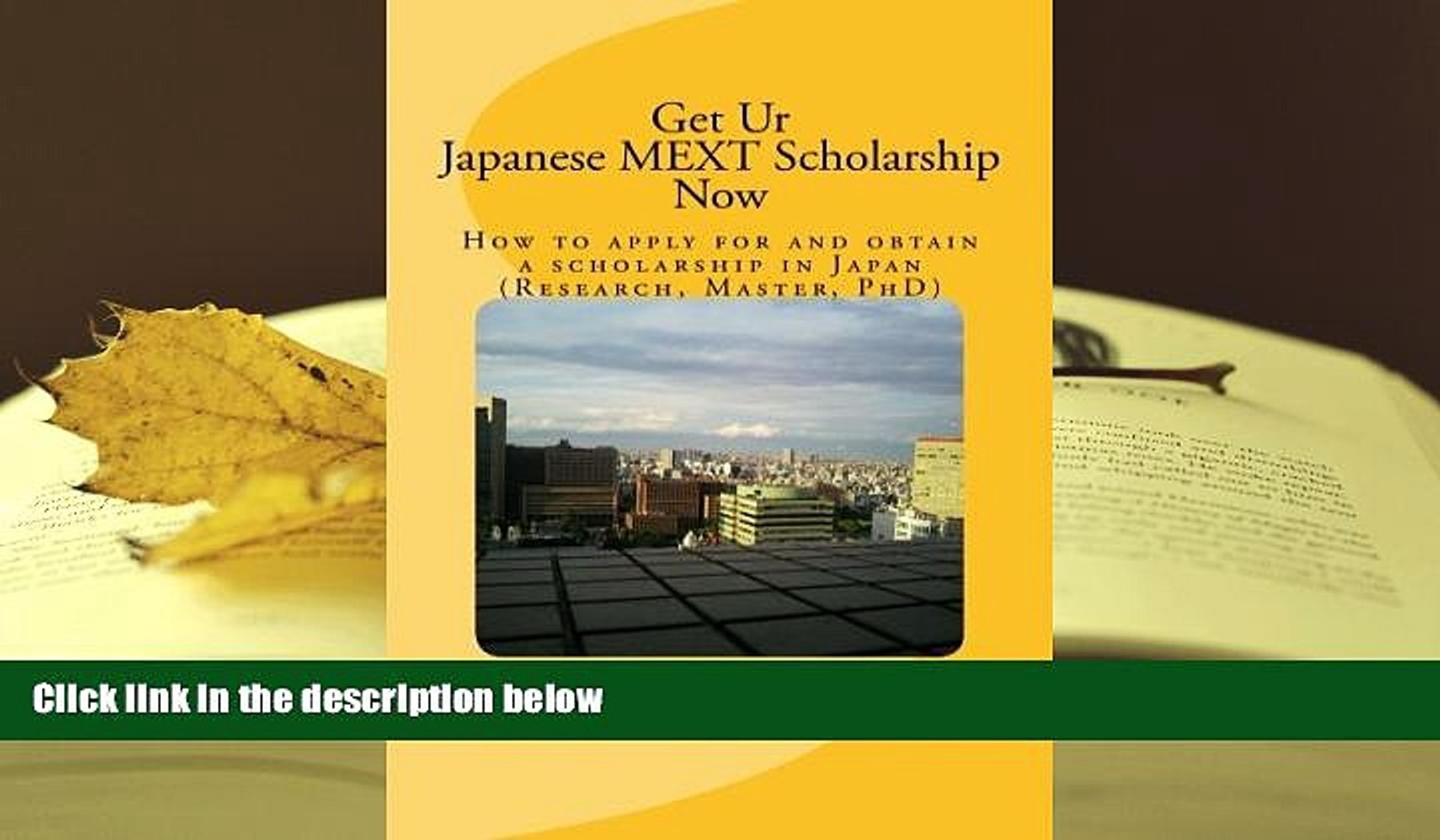 Audiobook Get Ur Japanese MEXT Scholarship Now: How to apply for and obtain  a scholarship in