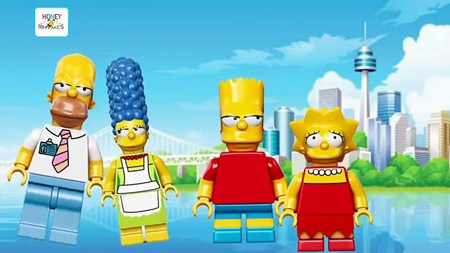 Lego The Simpsons Finger Family | Lego Toys Simpsons Finger Family Nursery Rhymes For Children