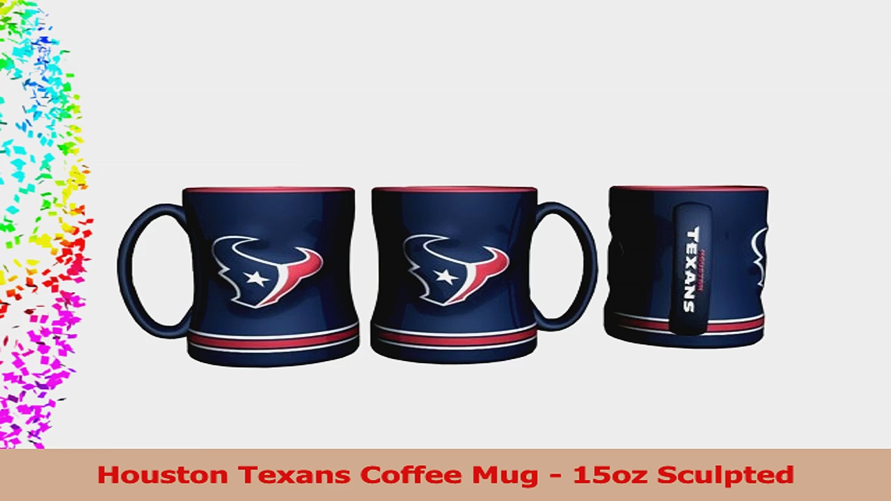 Houston Texans Coffee Mug  15oz Sculpted 28ba18b9