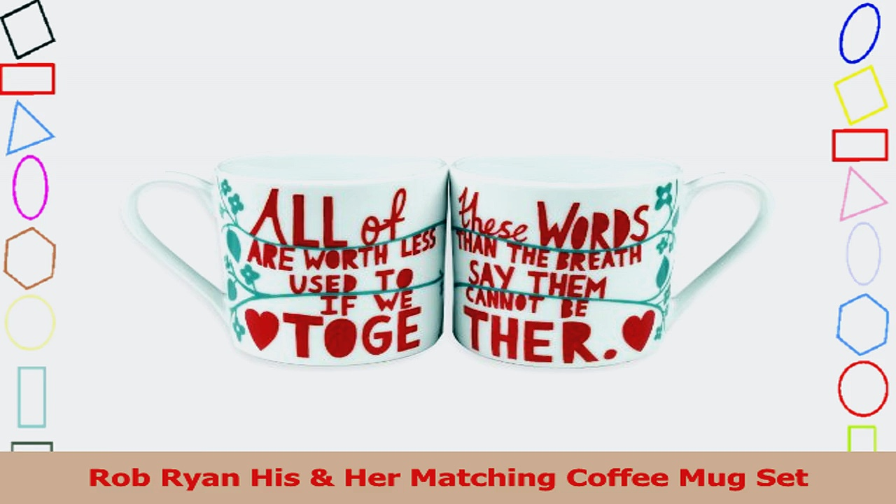 Rob Ryan His  Her Matching Coffee Mug Set 29f212a5