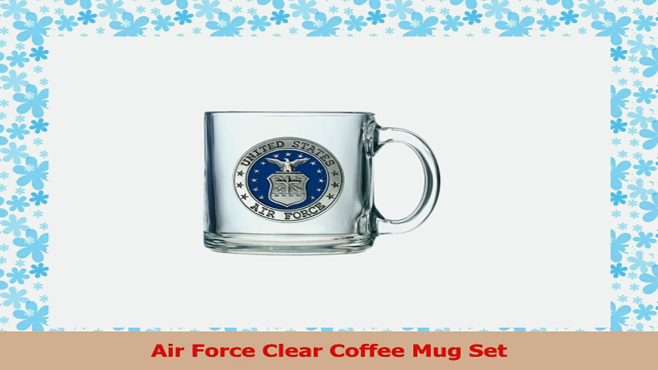 Air Force Clear Coffee Mug Set 6d9ce59d