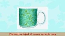 TreeFree Greetings 79601 Eco Chic Organic Paisley Art Ceramic Mug with FullSized Handle 632050d8
