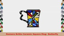 Romero Britto Ceramic Square Mug Butterfly 2d1eef8e